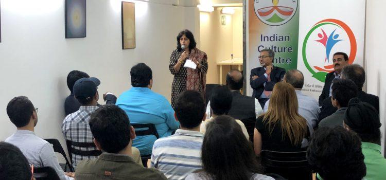 Charla de estudiantes con el embajador de India en España