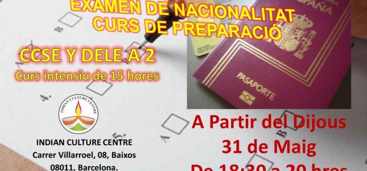 Curs de preparació per a l'examen de nacionalitat