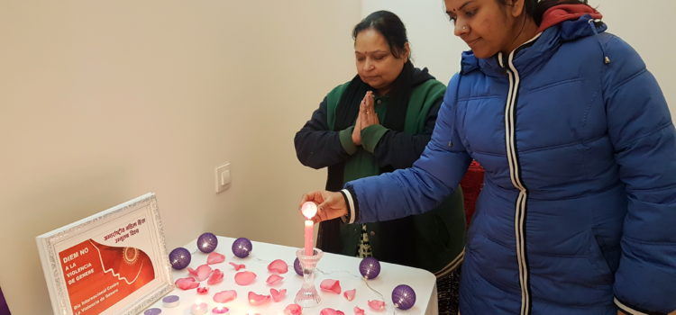 Commemoració del Dia Int. per a la eliminació de la Violència contra les Dones