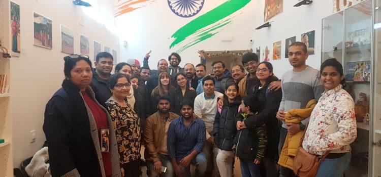 Reunión con familias del sur de India