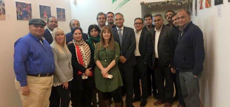 Visita del nuevo embajador de India en España