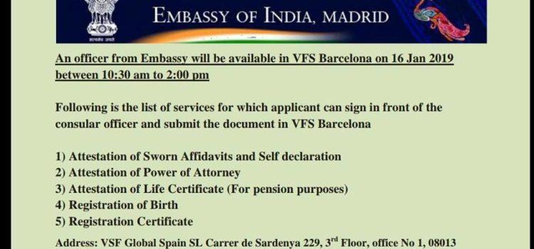 Información de la Embajada