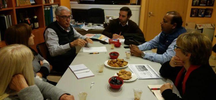 Reunión en la sede de la Ass. de Comerciants de Creu Coberta