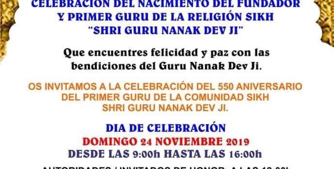 Celebració del 550è aniversari del naixement del Fundador i Primer Guru de la religió Sikh