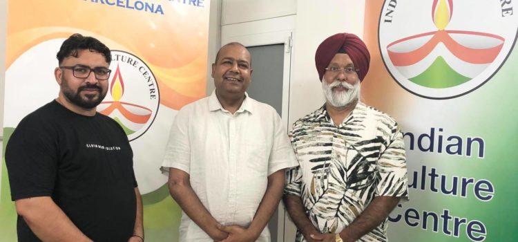 Visita de representantes de Azad Chardi Kala Kabaddi Club