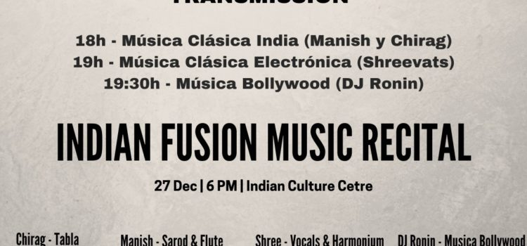 Christmas Concert: Indian Fusion Music Recital