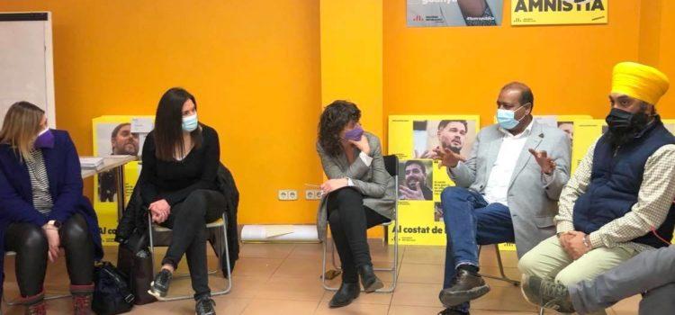 Reunió de la comunitat Sikh de Girona amb la Consellera Teresa Jordà