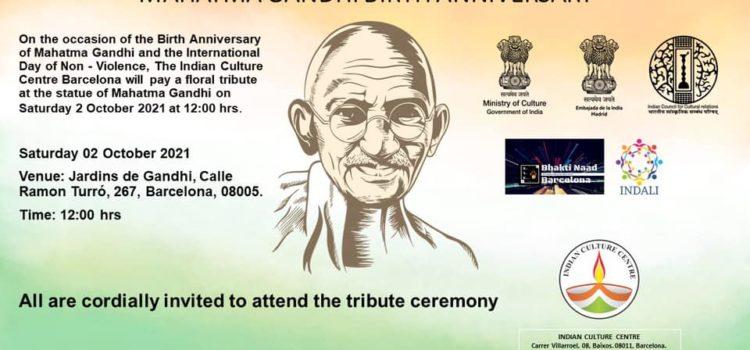 Anniversary of the birth of Gandhi – Gandhi Jayanti