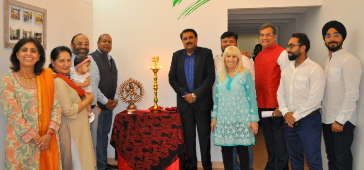 Lamp lighting on Indian Independence Day
