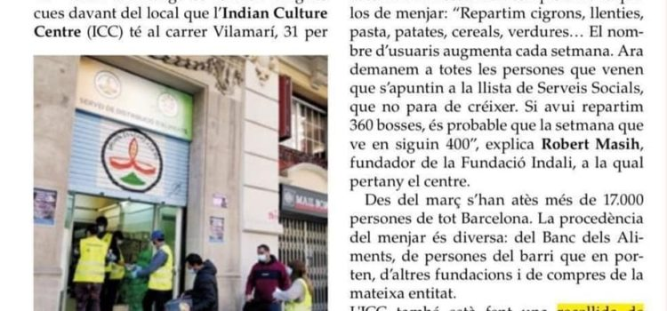 On the front page of the newspaper L´Àntonia in the Sant Antoni neighborhood