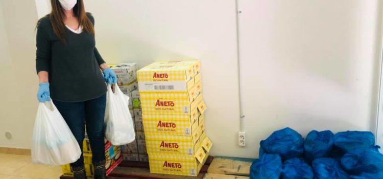 Donación de alimentos de Shila